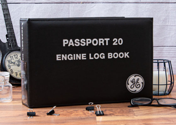 GE passport engine log book custom binder