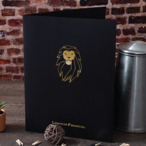 lionhead financial custom linen pocket folder