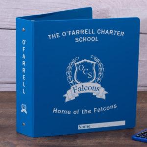 o'farrell charter school custom poly binder