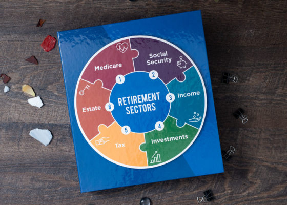 Retirement Sectors custom binder