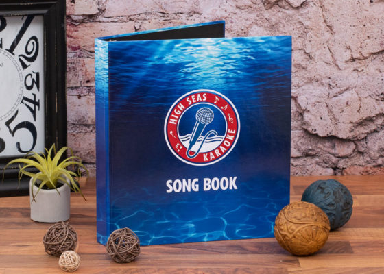 High seas karaoke custom binder