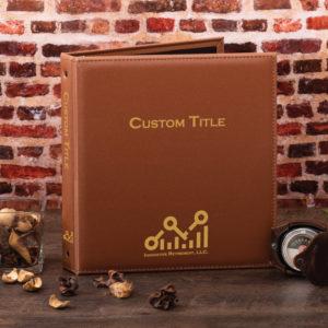 tan freeport custom binder cover