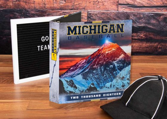 Michigan Baseball custom binder
