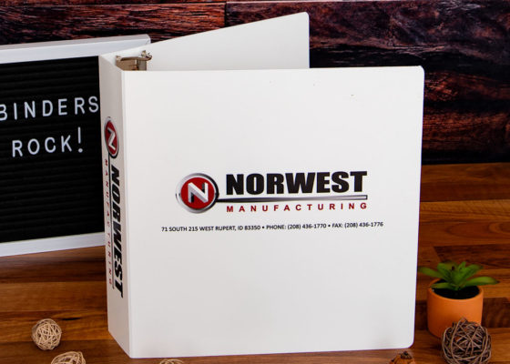 front cover of northwest manufacturing binder