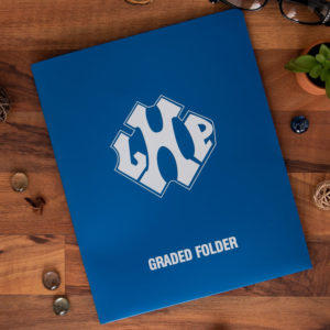 Graded folder custom silk screen poly pocket folder