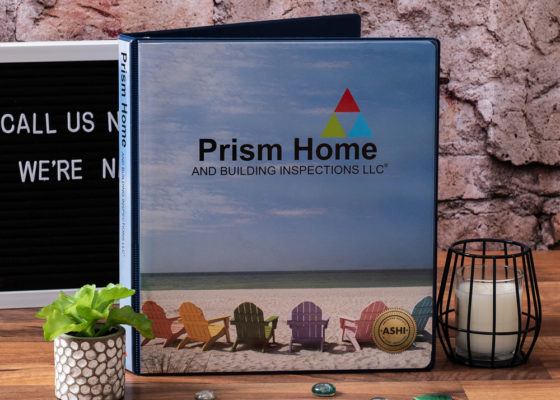 prism home custom binder front cover