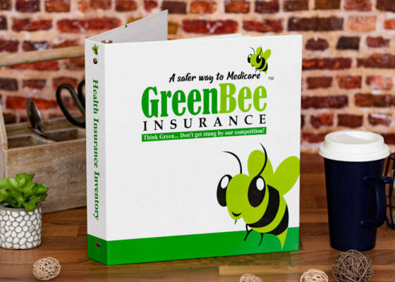 Green Bee Insurance Custom Binder - Front Cover