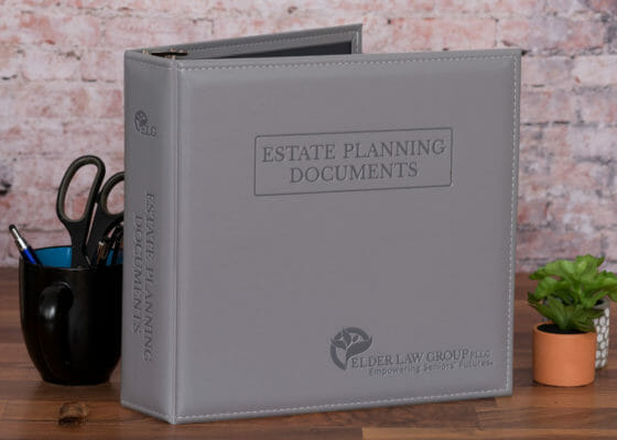 Elder Law Group Estate Planning Documents custom binder