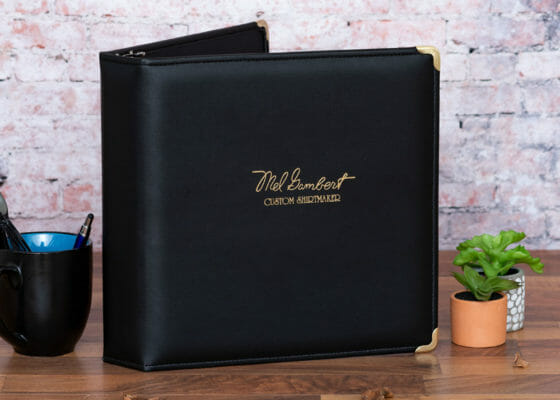Mel Gambert Custom Executive Binder