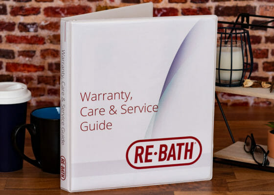 RE-Bath Omaha Warranty Care and Service Guide Custom Binder Cover