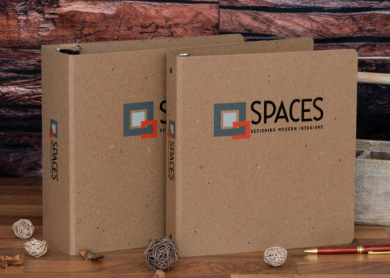 Spaces EarthBinder Recycled Custom Binder group