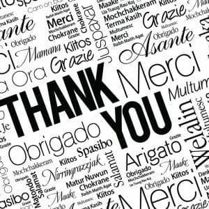 Thank You Card Cover - Multi Lingual Word Cloud
