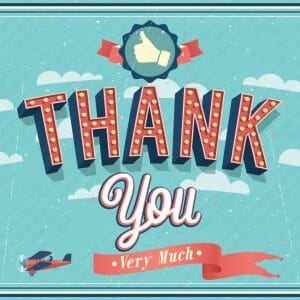Thank You Card Cover - Airplane Pulling Thank You Banner