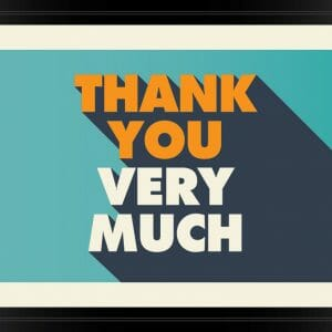 Thank You Card Cover - Framed Fancy Words