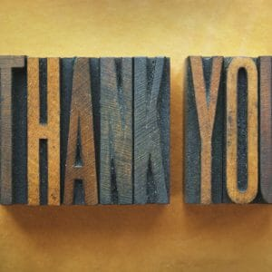 Thank You Card Cover - Old Fashioned Wood Block Print