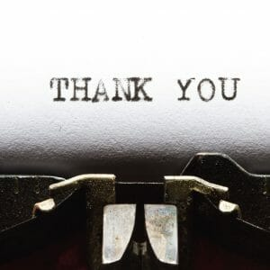 Thank You Card Cover - Typewriter