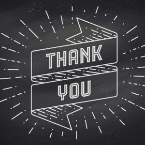 Thank You Card Cover - Chalkboard Look