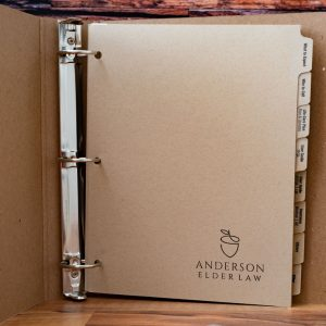 Anderson Elder Law - Kraft Index Tabs In Recycled Binder