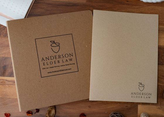 Anderson Elder Law - Recycled Binder And Kraft Pocket Folder