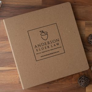 Anderson Elder Law - Recycled Binder Cover